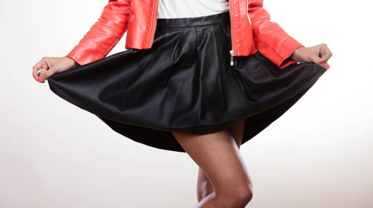 what to wear with a black skater skirt
