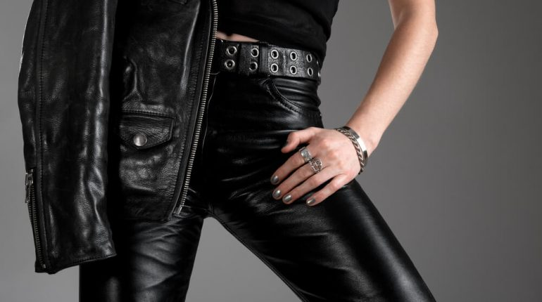 what to wear with leather pants for a night out